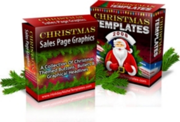 Product picture Christmas Templates and Sales Page Graphics Bundle - Members